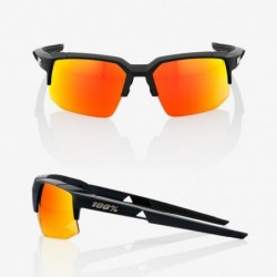 Gafas 100% Speedcoupe Negro Lente Rojo