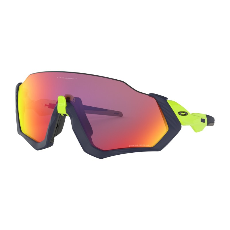 Gafas Oakley Flight Jacket Azul Marino/Fluor Primz Road